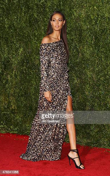 Model Joan Smalls attends American Theatre Wing's 69th Annual Tony Awards at Radio City Music Hall on June 7 2015 in New York City