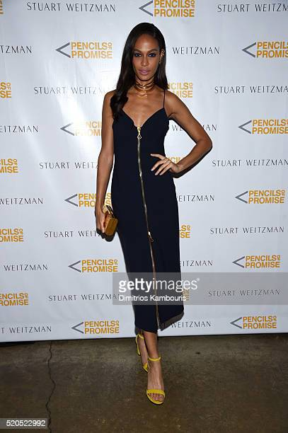 Model Joan Smalls attends as Stuart Weitzman launches its partnership with Pencils Of Promise at Sadelle's on April 11 2016 in New York City