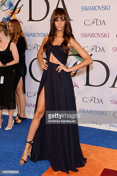 Model Joan Smalls attends the 2014 CFDA fashion awards at Alice Tully Hall Lincoln Center on June 2 2014 in New York City