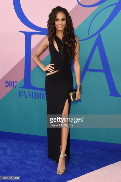 Model Joan Smalls attends the 2017 CFDA Fashion Awards at Hammerstein Ballroom on June 5 2017 in New York City