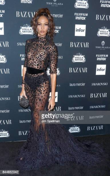 Model Joan Smalls attends the 2017 Harper's Bazaar Icons at The Plaza Hotel on September 8 2017 in New York City
