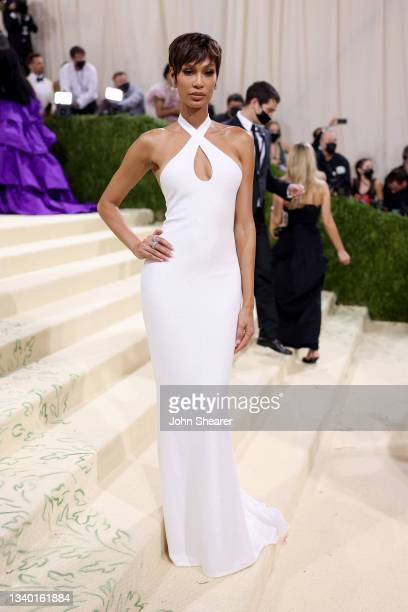 Model Joan Smalls attends The 2021 Met Gala Celebrating In America: A Lexicon Of Fashion at Metropolitan Museum of Art on September 13, 2021 in New...