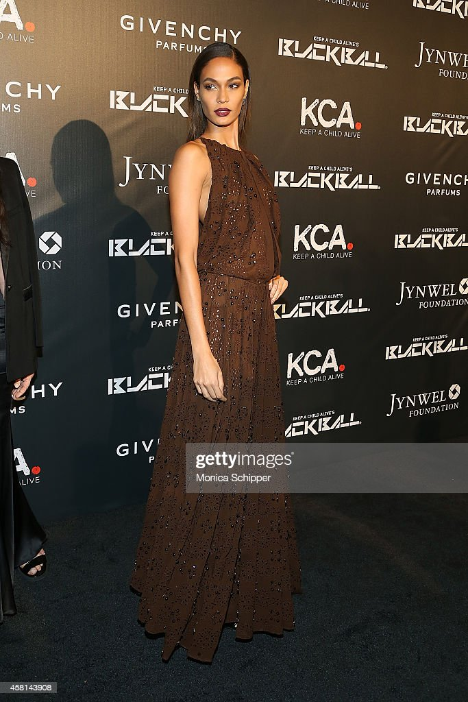 Model Joan Smalls attends the 9th annual Keep A Child Alive Black Ball at Hammerstein Ballroom on October 30, 2014 in New York City.