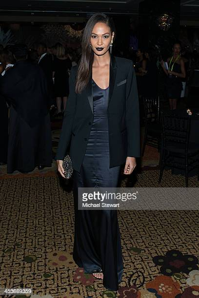 Model Joan Smalls attends the after party for the 2013 Alvin Ailey American Dance Theater's opening night benefit gala at the Hilton New York on...