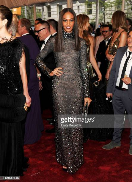 Model Joan Smalls attends the Alexander McQueen Savage Beauty Costume Institute Gala at The Metropolitan Museum of Art on May 2 2011 in New York City