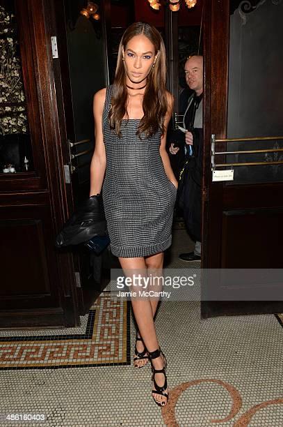 Model Joan Smalls attends the Chanel Tribeca Film Festival Artist Dinner during the 2014 Tribeca Film Festival at Balthazar on April 22 2014 in New...