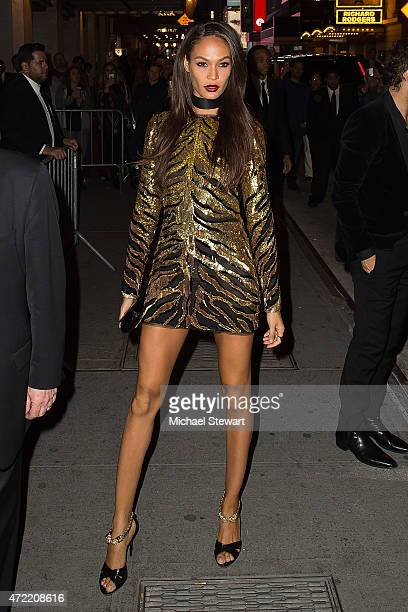 Model Joan Smalls attends the 'China Through The Looking Glass' Costume Institute Benefit Gala after party at the Diamond Horseshoe at the Paramount...