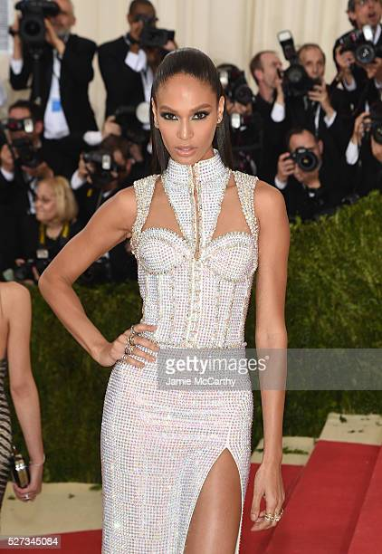 Model Joan Smalls attends the 'Manus x Machina Fashion In An Age Of Technology' Costume Institute Gala at Metropolitan Museum of Art on May 2 2016 in...