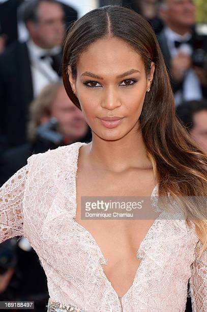Model Joan Smalls attends the Premiere of 'Cleopatra' during the 66th Annual Cannes Film Festival at the Palais des Festivals on May 21 2013 in...