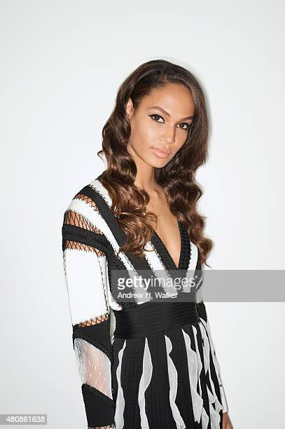 Model Joan Smalls poses for a portrait at the 2015 amfAR Inspiration Gala New York at Spring Studios on June 16 2015 in New York City