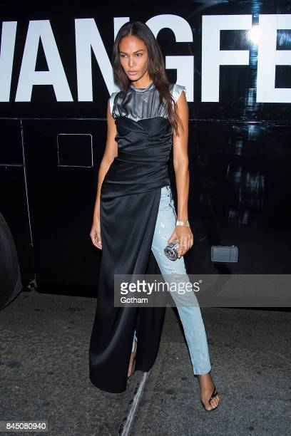 Model Joan Smalls seen during the Alexander Wang show during New York Fashion Week September 2017 collections on September 9 2017 in New York City
