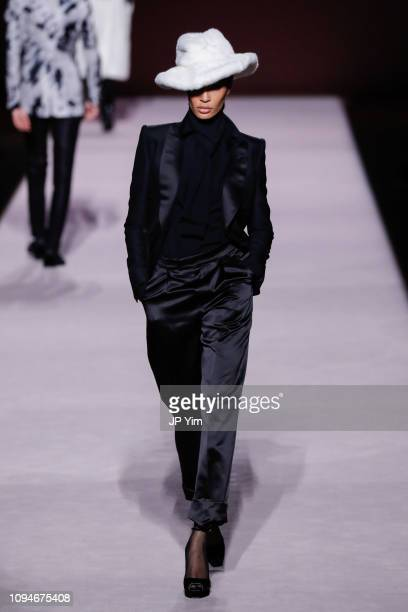 Model Joan Smalls walks the runway at the Tom Ford Autumn/Winter 2019 Collection on February 6 2019 in New York City