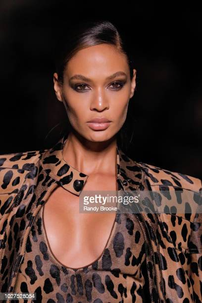 Model Joan Smalls walks the runway during the Tom Ford fashion show September 2018 at New York Fashion Week at Park Avenue Armory on September 5,...