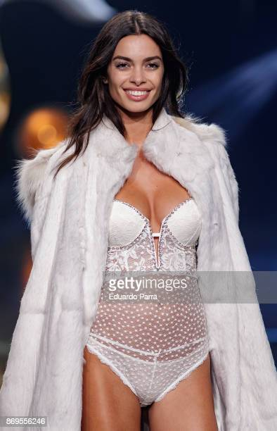 Model Joana Sanz walks the runaway during the 'Wanted' By Women'Secret' campaign presentation at La Riviera disco on November 2 2017 in Madrid Spain
