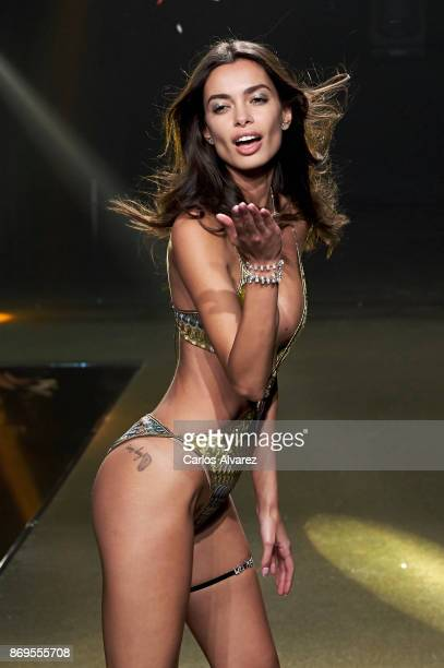 Model Joana Sanz walks the runway during the event Women'Secret Night to present the campaign Wanted on November 2 2017 in Madrid Spain