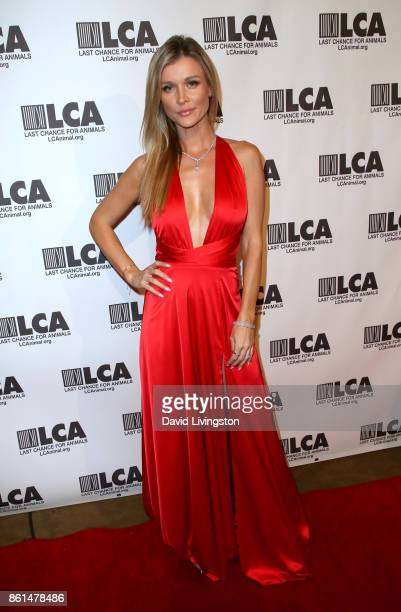 Model Joanna Krupa attends Last Chance for Animals 33rd Annual Celebrity Benefit Gala at The Beverly Hilton Hotel on October 14 2017 in Beverly Hills...