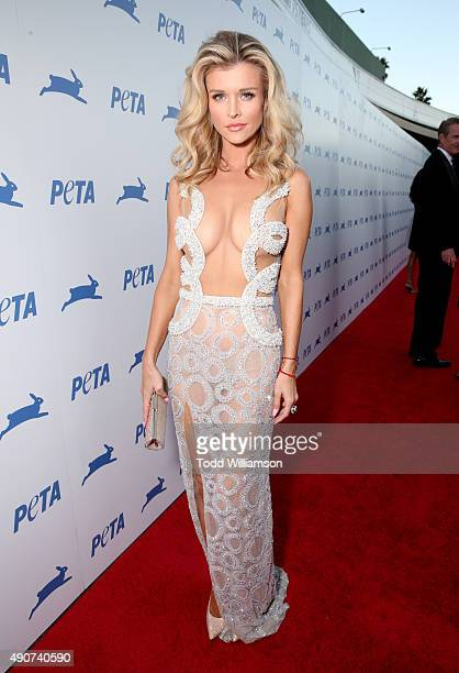 Model Joanna Krupa attends PETA's 35th Anniversary Party at Hollywood Palladium on September 30 2015 in Los Angeles California