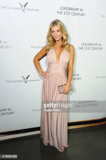 Model Joanna Krupa attends The Lourdes Foundation Leadership in the 21st Century Event with His Holiness the 14th Dalai Lama at the California...