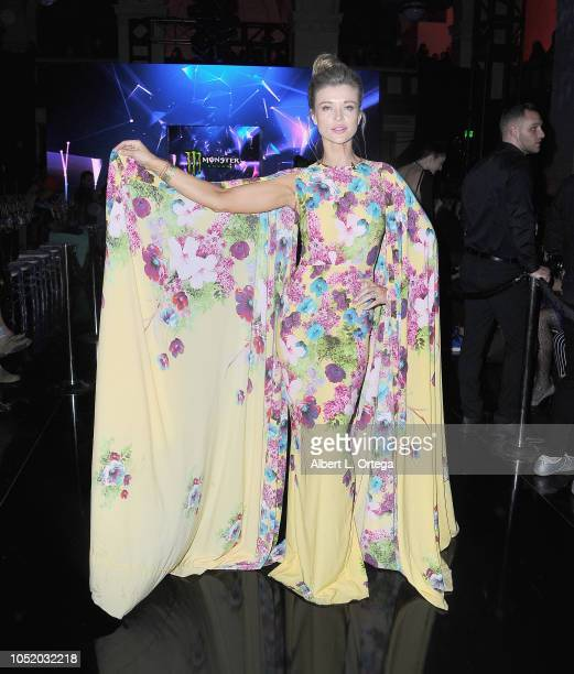 Model Joanna Krupa attends the Venus Prototype at Los Angeles Fashion Week Powered by Art Hearts Fashion LAFW SS/19 held at The Majestic Downtown on...