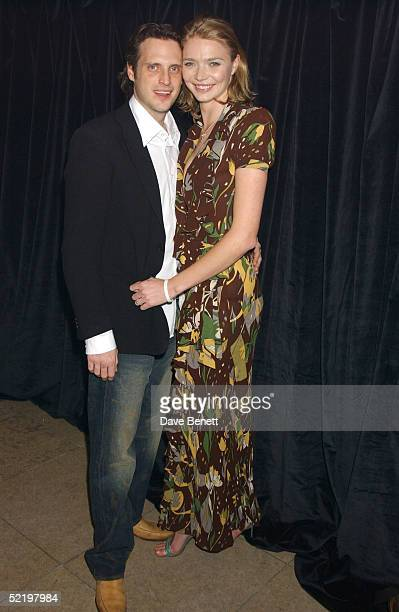 Model Jodie Kidd and fiance Aidan Butler attend the ICM Models and New Vintage Oasis Party celebrating the first anniversary of British model agency...