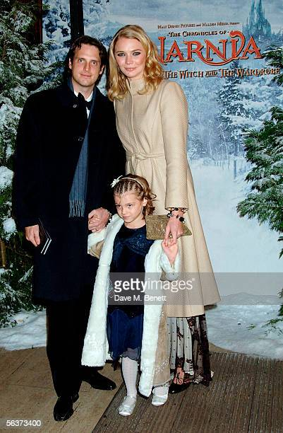 Model Jodie Kidd and her husband Aidan Butler arrive at the Royal Film Performance and World Premiere of The Chronicles Of Narnia at the Royal Albert...