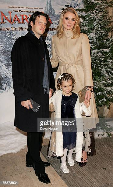 Model Jodie Kidd and her husband Aidan Butler arrive at the Royal Film Performance and World Premiere of 'The Chronicles Of Narnia' at the Royal...