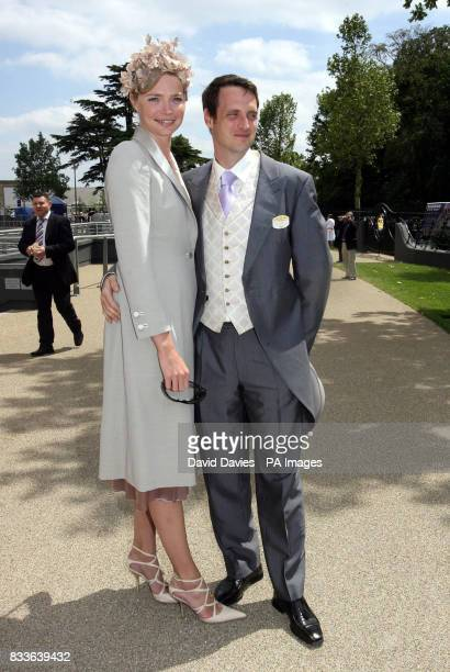Model Jodie kidd and husband Aiden Butler at Royal Ascot for the second day of the races