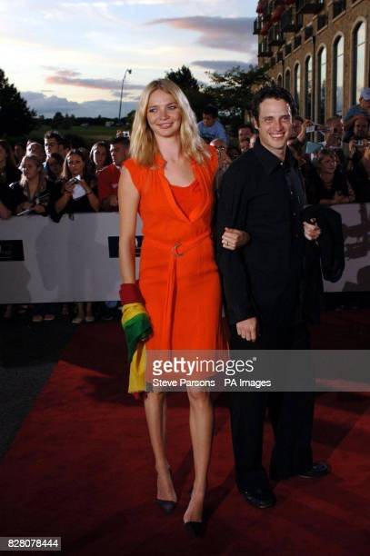 Model Jodie Kidd and partner Aidan Butler arrive Saturday August 27 2005 for the Gala Dinner at the Celtic Manor Resort near Newport Wales to mark...