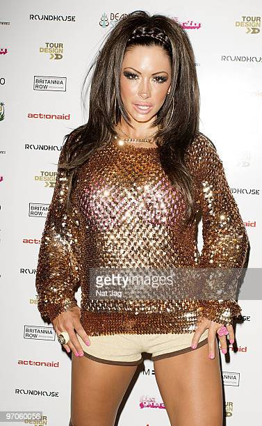 Model Jodie Marsh attends The Haiti Earthquake Fundraiser at The Roundhouse on February 25 2010 in London England