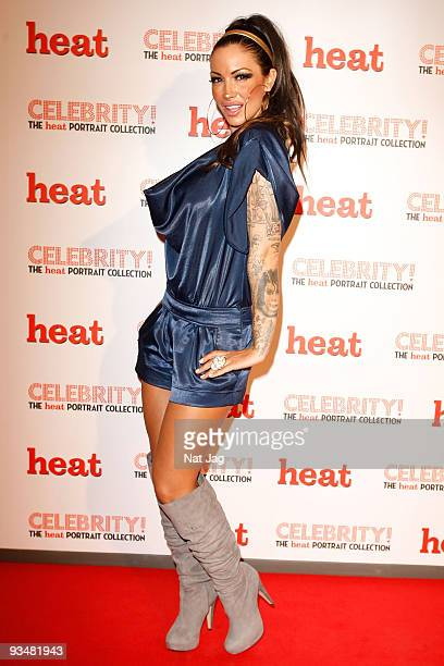 Model Jodie Marsh attends the private view of Heat Magazine's portrait collection 'Celebrity' on November 26 2009 in London England