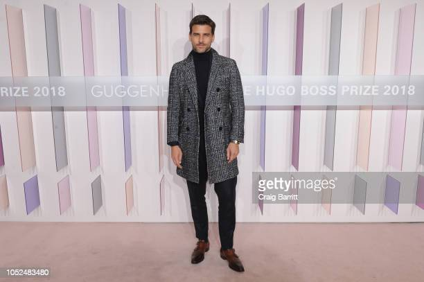 Model Johannes Huebl attends the Hugo Boss Prize 2018 Artists Dinner at the Guggenheim Museum on October 18, 2018 in New York City.