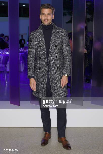 Model Johannes Huebl attends the Hugo Boss Prize 2018 Artists Dinner at the Guggenheim Museum on October 18 2018 in New York City