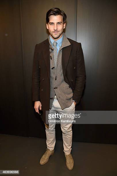Model Johannes Huebl attends the Rachel Zoe presentation during MercedesBenz Fashion Week Fall 2015 at Affirmation Arts on February 17 2015 in New...