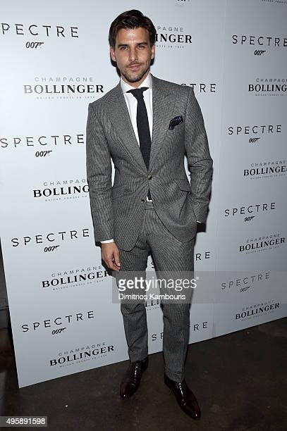 Model Johannes Huebl attends the 'Spectre' prerelease screening hosted by Champagne Bollinger and The Cinema Society at the IFC Center on November 5...