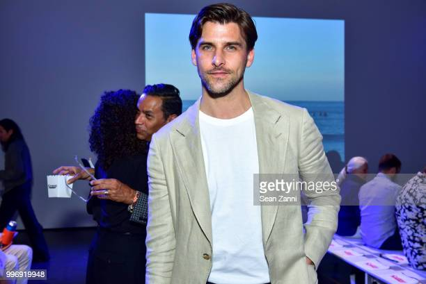 Model Johannes Huebl attends the Todd Snyder S/S 2019 Collection during NYFW Men's July 2018 at Industria Studios on July 11 2018 in New York City