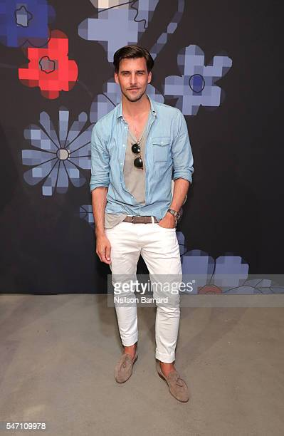 Model Johannes Huebl during Tommy Hilfiger Spring 2017 Men's Tailored Collection Presentation at Skylight at 60 10th Avenue on July 6 2016 in New...