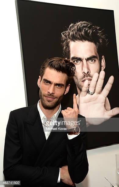 Model Jon Kortajarena attends BVLGARI and Save The Children STOP THINK GIVE PreOscar Event at Spago on February 17 2015 in Beverly Hills California