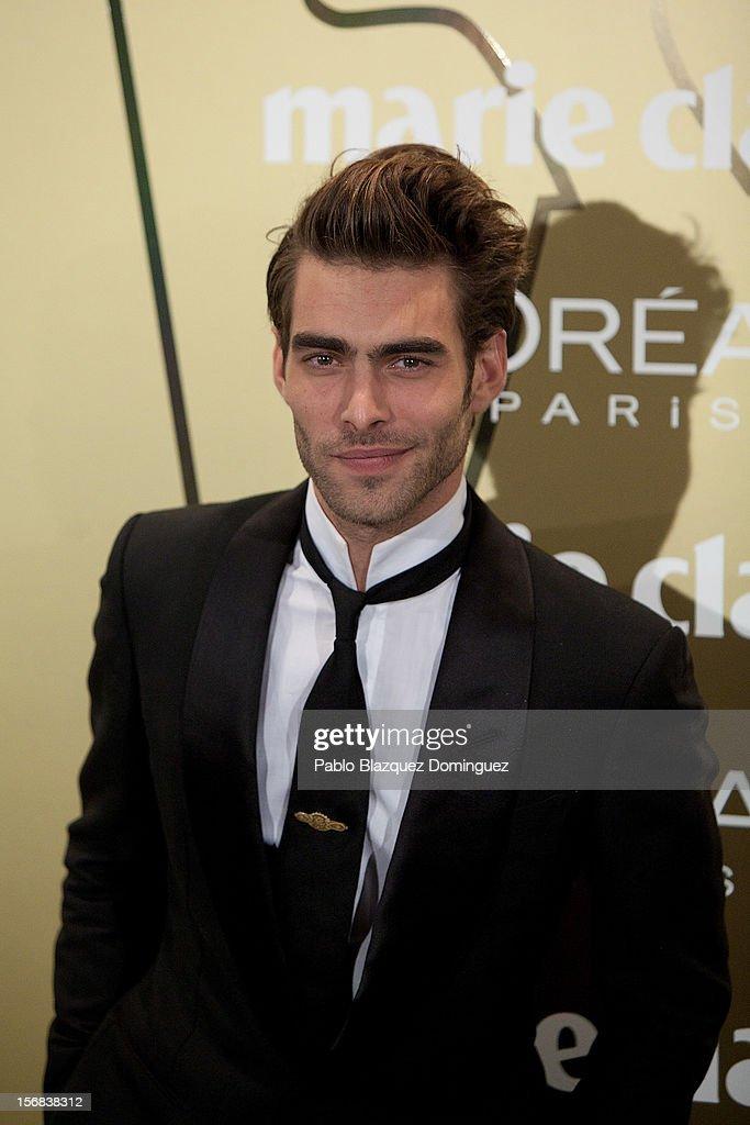 Model Jon Kortajarena attends Marie Claire Prix de la Moda Awards 2012 at French Embassy on November 22, 2012 in Madrid, Spain.