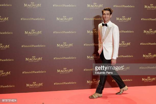Model Jon Kortajarena attends the 'Magnum' photocall at Gran Maestre theatre on June 13 2018 in Madrid Spain