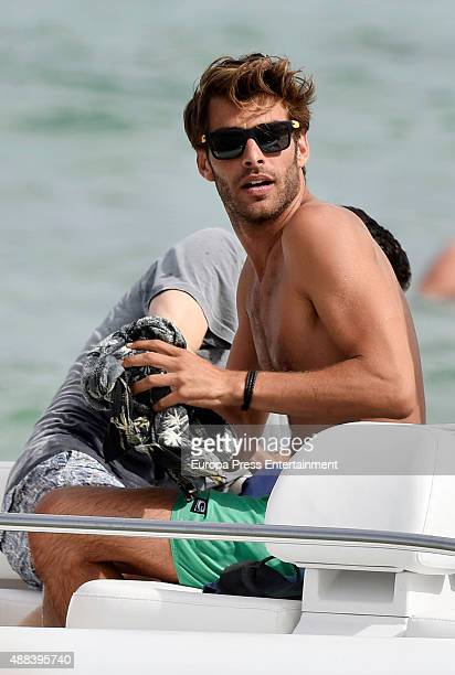 Model Jon Kortajarena is seen on August 8 2015 in Ibiza Spain