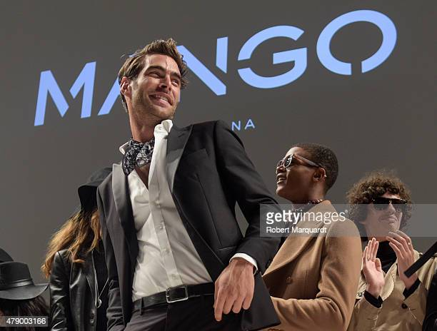 Model Jon Kortajarena walks the runway for the Mango fashion show at 'Barcelona 080 Fashion AutumnWinter 20152016' on June 29 2015 in Barcelona Spain