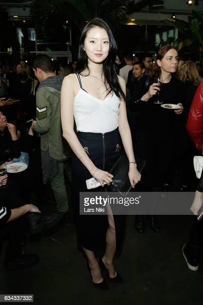 Model Joony Kim attends The Industry MGMT and The Industry Model MGMT Launch hosted by the Art Fashion Group and Pier59 Studios at Pier 59 Studios on...