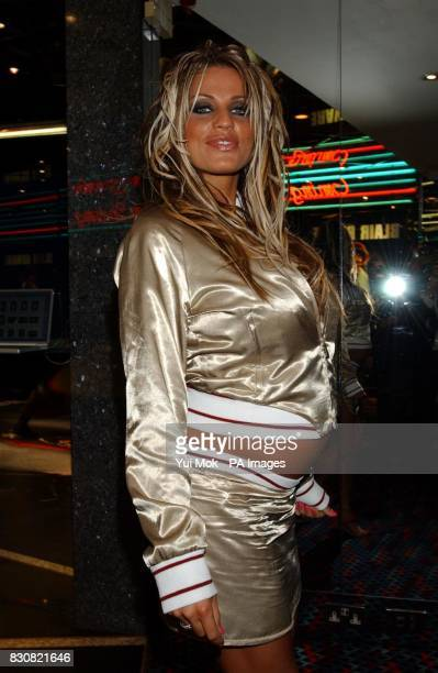 Model Jordan arriving at the Empire Cinema in London's Leicester Square for the premiere of Ali G InDaHouse * Jordan was expecting to give birth...