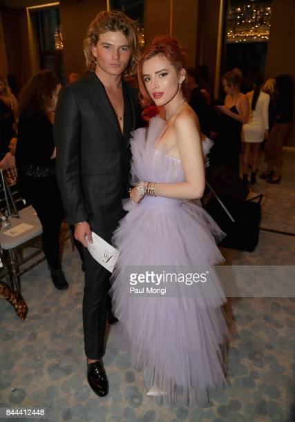 Model Jordan Barrett and actress Bella Thorne attend the Daily Front Row's Fashion Media Awards at Four Seasons Hotel New York Downtown on September...