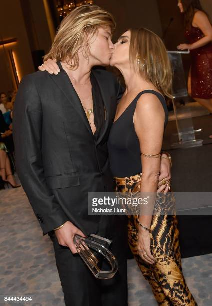 Model Jordan Barrett and CR Fashion Book EIC Carine Roitfeld attend the Daily Front Row's Fashion Media Awards at Four Seasons Hotel New York...