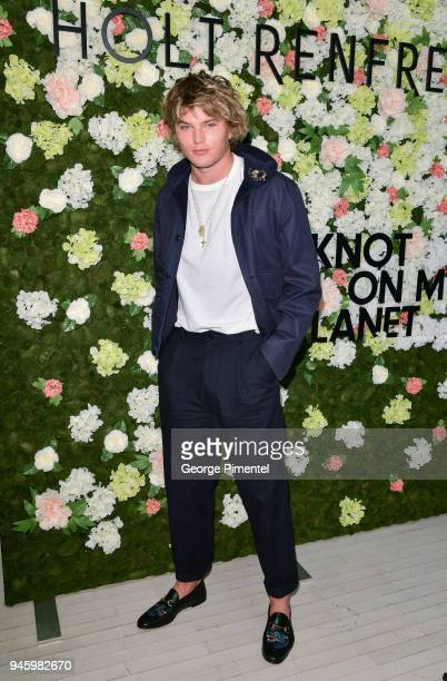 Model Jordan Barrett attends a personal appearance at Holt Renfrew flagship store on April 13 2018 in Toronto Canada