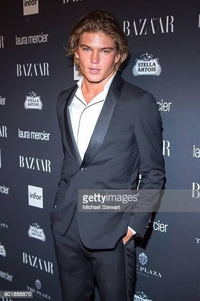 Model Jordan Barrett attends Harper's BAZAAR Celebrates ICONS By Carine Roitfeld at The Plaza Hotel on September 9 2016 in New York City