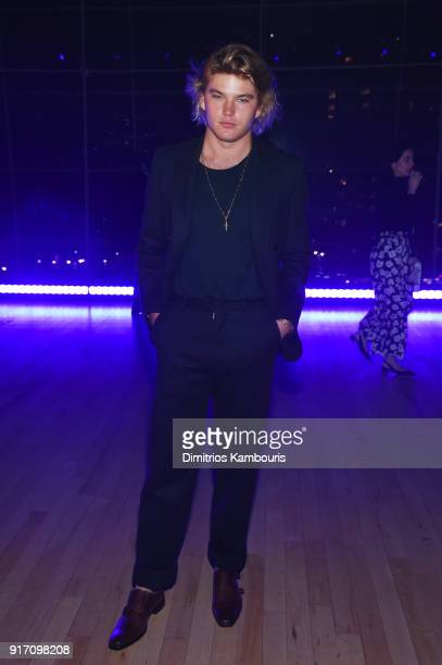 27fff95a Model Jordan Barrett attends the Brandon Maxwell front row during New York  Fashion Week The Shows. Editorial use only