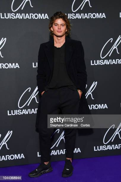 Model Jordan Barrett attends the CR Fashion Book x Luisaviaroma Photocall as part of the Paris Fashion Week Womenswear Spring/Summer 2019 on October...
