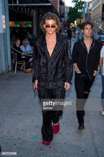 Model Jordan Barrett is seen in the West Village on June 27 2017 in New York City
